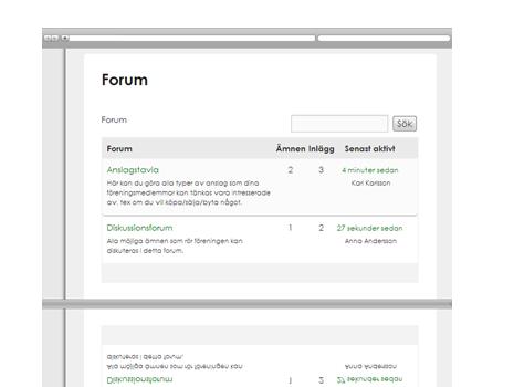 Diskussionsforum och anslagstavla